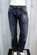 DSQUARED2 Jeans Uomo Taglia 50 Denim Blu Pantalone Cotone Italia Pants Men