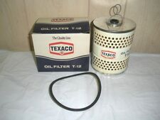 Texaco T-12 Oil Filter Vintage Americana Gas Station USA NOS NEW auto sign pump