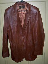 Vintage 80's Brown Leather Connection Phoenix Leather Jacket Coat Large X-Large?