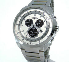 CITIZEN MEN ECO-DRIVE JAPAN MADE CHRONOGRAPH 44mm STAINLESS STEEL AT2150-51A