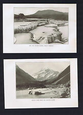 Hot Water Basins, White Terrace &  Mount Cook Hooker River -New Zealand - 1913