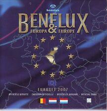 COFFRET  B U  BENELUX  2007  LES 3 SERIES    1C  A  2€