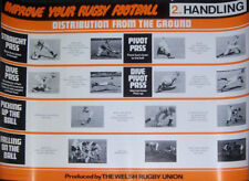 IMPROVE YOUR RUGBY FOOTBALL SERIES OF 8 RUGBY POSTERS