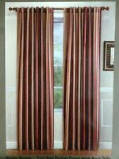 """One FAUX SILK Striped HARRISON STRIPE Curtain Drape Panel 50"""" Wide x 63""""Long"""