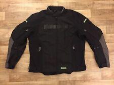 KAWASAKI Motorcycle Jacket Z Textile Black Vault Armor Pads Reflective MEN'S XL