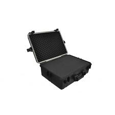 Black Tool Box Transport Hard Case Foam 2 Padlocks Storage Tools 3 Layers Handle
