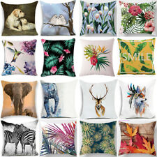 Floral Tropical Plant leaves Animal Car Home Pillow Case Waist Cushion Cover New