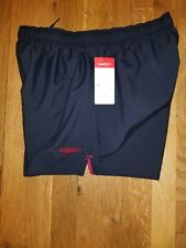 Mens New Swimwear Speedo  Size Small Fitness Splice Square Leg Black & Red