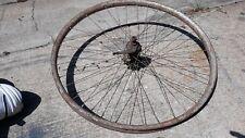 Antique Bicycle Rear wheel  Wood Metal  Clad  28 Inch