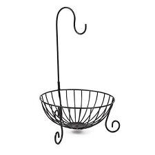Kitchen Tableware Metal Fruit Basket Banana Hanger Holder Storage Organizer