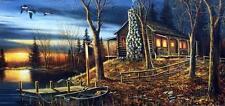 "Jim Hansel ""Complete Serenity"" Cabin Lake Print  16 x 12"
