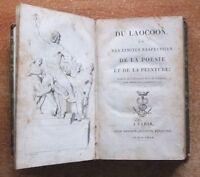 DU LAOCOON OU DES LIMITES RESPECTIVES DE LA POESIE ET DE LA PEINTURE -1802- E.O