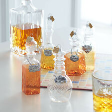 "6.5"" DECANTER ORNAMENTS Set of 5 Liquor Bottles Shaped by RAZ Imports 3853013"