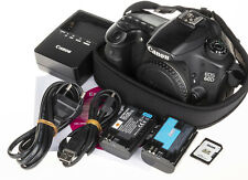 Canon EOS 60D 18MP DSLR Camera +2 batteries, 8GB SD, CDs | 5.2k clicks