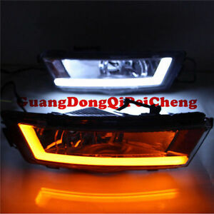 New LED daytime running light DRL Fog lamp Fit  Skoda Rapid 2013-2015 A+Quality