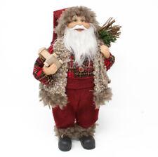 Babbo Natale 30 cm con Sacco Doni e Treno Pupazzo di Babbo Natale Decorazione
