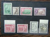 Fiji 1954 - 59 values to 1s MM