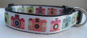 Camera dog collar or lead handmade grooming puppy selfie lover funky cute