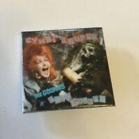 "Cyndi Lauper Vintage Retro 80's Square 1.5"" Badge Button Pinback 09 The Goonies"