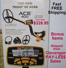 New 2018 Garrett Ace 400 Metal Detector with Extra Items Fast Free Shipping