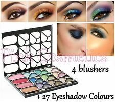 La Femme 4 BLUSHER Blush & 27 Colour Shimmer EYESHADOW PALETTE Gift Makeup Set