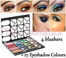 La Femme 4 BLUSHER Blush & 27 Colour Shimmer EYESHADOW PALETTE Gift Makeup Set