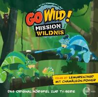 GO WILD!-MISSION WILDNIS - LEMURENJAGD MIT CHAMÄLEON-POWER (27)-HÖRSP. CD NEU