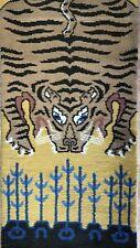 Tiger Tibetan - Antique Tribal Rug - Oriental Runner - 2.8 x 13.5 ft.