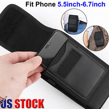 Cell Phone Holster Leather Wallet Case Cover w/ Card Slot Belt Clip for Samsung