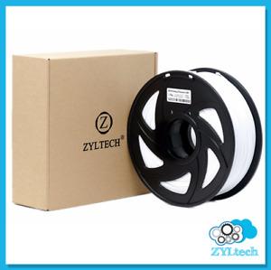 White ABS 3D Printer Filament 1.75mm 1 kg 2.2 lbs