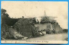 CPA: La Poste et la défense du Village / Guerre 14-18 / 1915