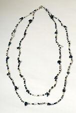 Stylische Halskette schwarz weiß African Style,filigran Glasperlen,verstellbar