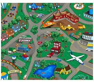 Sew N Go~ Town Playmat Panel ~ 36 x 44'' Cotton Fabric by Quilting Treasures