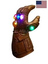 US! Avengers Infinity War Thanos LED Light Gauntlet Glove KIDS Costume Prop