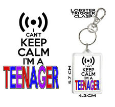 TEENAGER GIFT KEYRING I Can't Keep Calm I'm A Teenager Coaster & Mug Available.