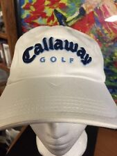 White Callaway Golf Cap Adjustable Back Navy Letters with light blue trim