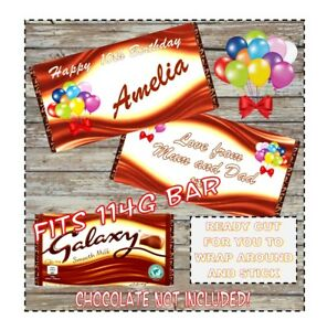 Personalised Galaxy Chocolate Wrapper for 110g Bar CHOCOLATE NOT INCLUDED!!
