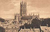 EARLY 1900's VINTAGE GLOUCESTER CATHEDRAL POSTCARD - COMMISSIONED in 678