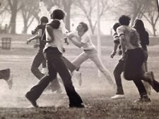 Vtg 1970s Football Game on Washington DC Mall Everett Johnson B&W Original Photo