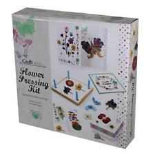 Craft Deco - Flower Pressing Kit with Cards - Hobby, Christmas, Birthday Gift