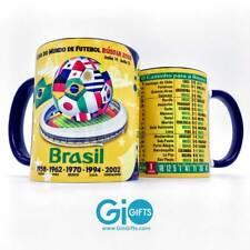 """Brasil, Seleção Brasileira de Futebol, """"The Road to Russia 2018"""" Souvenir Mug"""
