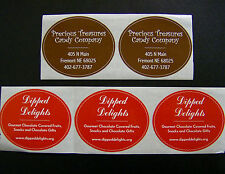 """Custom Oval Labels 500 Printed Business Stickers 1 Color Roll, bleed 2-1/2"""" x 3"""""""