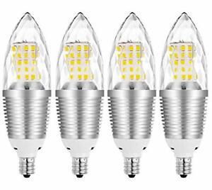 E12 LED Candelabra Light Bulbs 12W Equivalent 85-100W Incandescent Bulb 4pcs