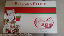 """FITZ AND FLOYD LETTERS TO SANTA COOKIE PLATTER """"IT'S CHRISTMAS TIME"""" NEW IN BOX"""