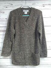 MARIA DI RIPABIANCA Italy Italian Cashmere Cardigan Sweater Mottled Multicolor M