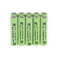 Lot Of 10pcs AAA 1.2V 600mAh Solar Light NiMH Rechargeable Batteries For Lights