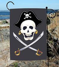 NEW Toland - Swashbuckle - Skull Cross Bones Pirate Sword Garden Flag