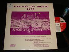 FESTIVAL OF MUSIC 1970 LP ADELAIDE COMBINED SCHOOL CHILDREN CHOIR - Custom Press