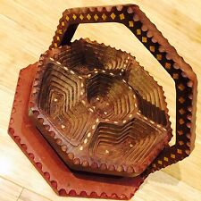 Wooden Tray for Snacks Bread Handcarved Wooden Fruit Basket Key Holder GIFT