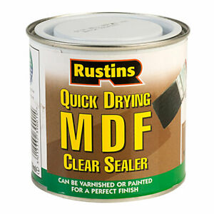 Rustins - MDF Sealer - Paint or Varnish After Use - CLEAR - 250ML / 500ML / 1L